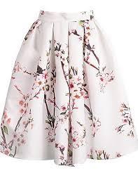 women u0027s floral print knee length vintage skirts satin micro