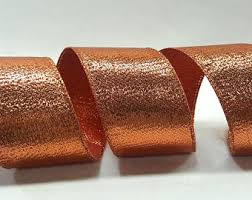 copper ribbon copper wired ribbon etsy
