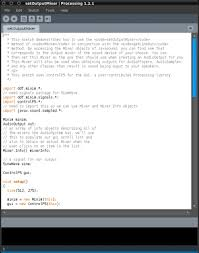 processing with sound linux journal