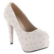wedding shoes rhinestones velcans velcans ivory pearls and silver rhinestone women s