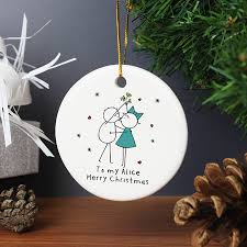 personalised u0027couple u0027 christmas decoration by hope and willow