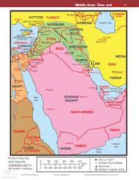 Middle East Map With Capitals by Map U2013 Middle East Then And Now Reading The Bible