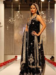 tunning looks latest design pakistani wedding dresses in black