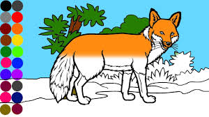 fox coloring page for kids baby kids youtube
