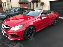 convertible mercedes red 2014 mercedes e class 3 0 e350 amg sport convertible in armagh