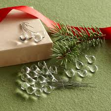 clear glass raindrop ornaments robert redford s sundance catalog