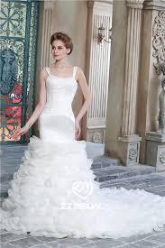 organza layered wedding gown wedding gown with train spaghetti