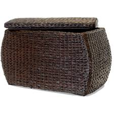 Seagrass Storage Ottoman Storage Cocktail Tables With Storage Footed Rattan Weaved