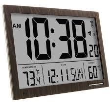 marathon cl030062wd slim jumbo atomic digital wall clock amazon marathon cl030062wd slim jumbo atomic digital wall clock amazon ca home kitchen