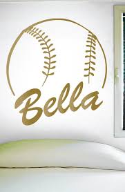 best 25 name wall decals ideas on pinterest name wall art name custom softball name wall decal 0125 personalized softball name wall decal girls softball softball custom name