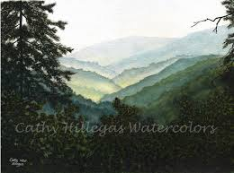 Mountain Landscape Paintings by 677 Best Smoky Mountains Images On Pinterest Watercolors