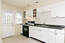 White Subway Tile Kitchen by Minimalist Kitchen Design With White Costco Kitchen Cabinet