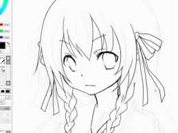 lineart anime drawing sai paint tool kaneko eiza youtube