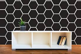 hexagon honeycomb wall pattern decals wall decal custom