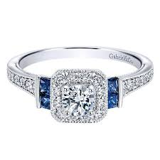 sapphire halo engagement rings 14k white gold 56cttw vintage and sapphire halo