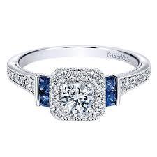 diamond rings sapphire images 14k white gold 56cttw vintage diamond and sapphire halo jpg