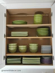 organizing archives green with decor