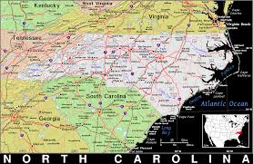 Map Of N Carolina Nc North Carolina Public Domain Maps By Pat The Free Open