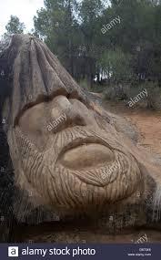 spain guadalajara stone sculpture face art decoration design