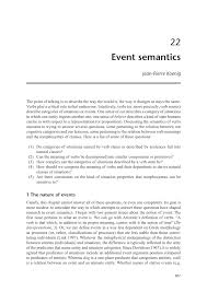 definition de chambrer event semantics pdf available