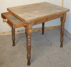 Small Pine Scrubbed Top Kitchen Table With One Drawer C - Small pine kitchen table