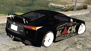 lfa lexus black lexus lfa street edition djarum black for gta san andreas