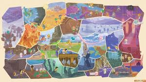 Final Fantasy 6 World Map by Final Fantasy Vi Fresco Art By The French Artist Orioto