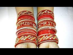 wedding chura with name diy bridal chuda handmade panjabi name chura bridal chura