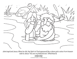 jesus baptism coloring page free android coloring printable bible