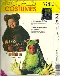 mccalls 7842 p248 arma collection toddlers frog and bear costume
