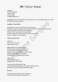 Automation Tester Resume Sample by Emr Resume Sample Free Resume Example And Writing Download