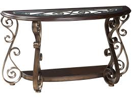 standard sofa table height standard furniture bombay old world sofa table with glass top and