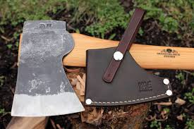 Handmade Swedish Axe - gransfors bruks american felling axe custom leather sheath
