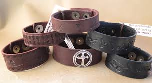 leather bracelet with buckle images Custom leather bracelets and cuffs techleathercraft jpg