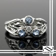 fashion gem rings images Hand made platinum zora sapphire ring by earth art gem jewelry jpg