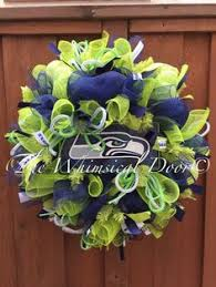 seahawk ribbon seattle seahawks wreath by misschristinascrafts on etsy https