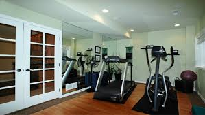 home gym lighting design interior modern basement home gym design idea modern basement