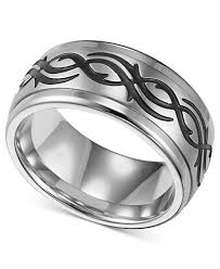mens stainless steel rings triton men s stainless steel ring black design wedding band