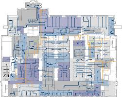 3d floor plan with zones and ductwork qa graphics