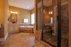 simple master bathroom ideas in this brown master bathroom give the space a simple