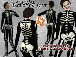 second life marketplace skeleton suit as underwear and as