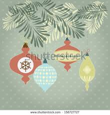 retro ornaments trees vector illustration stock vector