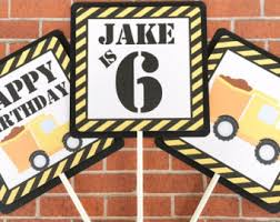 Construction Party Centerpieces by Truck Centerpieces Etsy