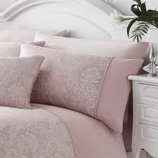serene laurent jacquard rose pink duvet set