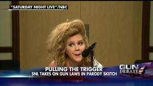 watch amy schumer makes fun of gun owners on saturday night live