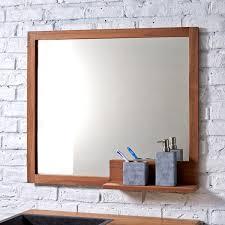 Badezimmerspiegel Mit Ablage Teak Spiegel Pure U2013 Verkauf Von Spiegeln 80x70 Bei Tikamoon