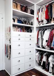 built in closet dresser stacked under purse shelves transitional