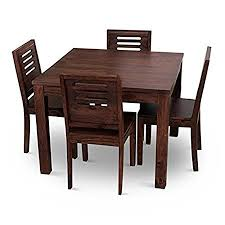 dining table set 4 seater home edge solid wood 4 seater wooden dining table set rs 13800