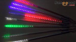 meteor shower rainfall muti colors led light banggood