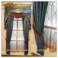 fancy curtain valances embroidery pain window curtains with
